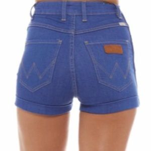 Wrangler Urban Outfitters Pin Up Denim Shorts